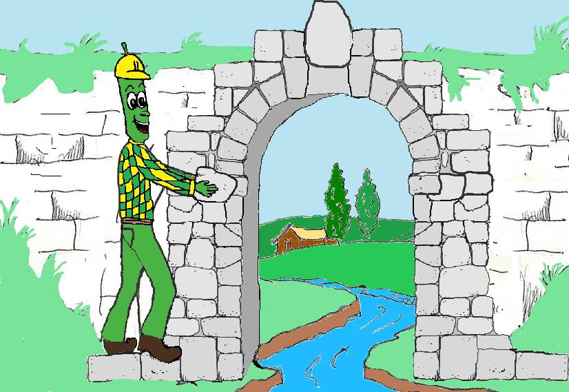 Fagiolino costruttore e l'incendio del ponte del vecchio mulino